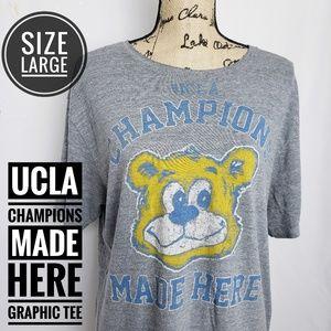 ADIDAS UCLA CHAMPIONS MADE HERE  GRAPHIC TEE